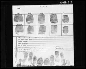 Primary view of object titled 'Fingerprint Card: Lee Harvey Oswald'.