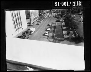 View from the Texas School Book Depository [Negative]