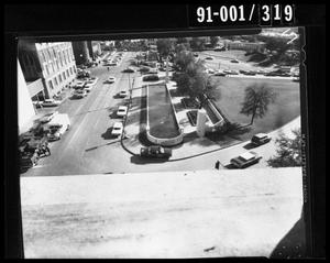 Primary view of object titled 'View from the Texas School Book Depository [Negative]'.