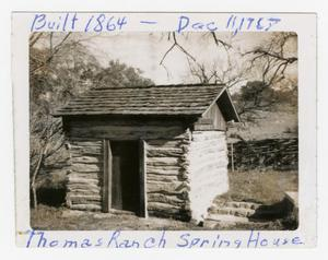 Primary view of object titled '[Old Thomas Ranch House Photograph #1]'.