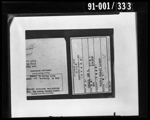 Primary view of object titled 'Oswald Property: Identification Card'.
