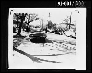 Primary view of object titled 'Tippit Shooting, Car View Looking West'.