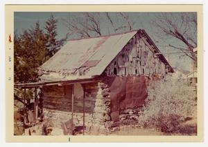 Primary view of object titled '[Pape Log Cabin Photograph #1]'.