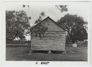 Primary view of object titled '[Claiborne Kyle Log House Photograph #4]'.