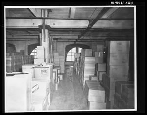 Primary view of object titled 'Boxes in the Texas School Book Depository [Print]'.