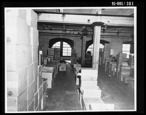 Primary view of object titled 'Boxes in the Texas School Book Depository [Print #1]'.