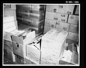 Primary view of object titled 'Boxes at the Texas School Book Depository [Print]'.