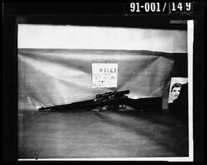 Primary view of object titled 'Evidence: Rifle and Police Artist Sketch [Negative #1]'.