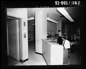 Primary view of object titled 'City Hall Jail Office, Elevator Door [Negative]'.