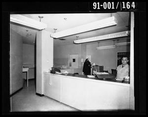 Primary view of object titled 'City Hall Jail Office, Southeast Door [Negative]'.