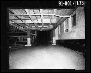 Primary view of object titled 'City Hall Basement, Commerce Street Ramp [Negative]'.