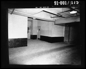 Primary view of object titled 'City Hall Basement, Southeast Door to Jail [Negative]'.