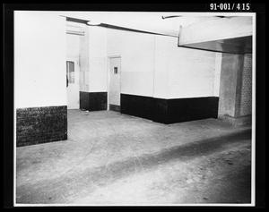 Primary view of object titled 'City Hall Basement, Southeast Door to Jail [Print]'.