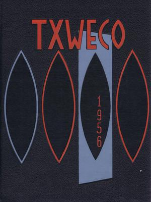Primary view of object titled 'TXWECO, Yearbook of Texas Wesleyan College, 1956'.
