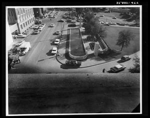 Primary view of object titled 'View from the Texas School Book Depository [Print]'.