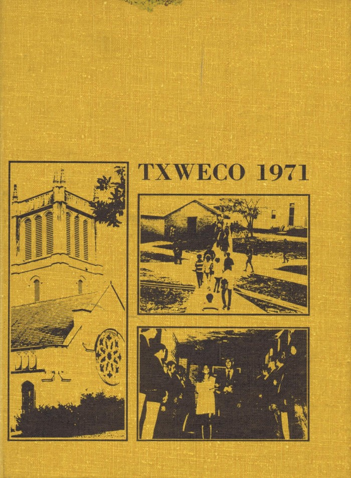 First page of: TXWECO, Yearbook of Texas Wesleyan College, 1971, a yearbook available in the The Portal to Texas History