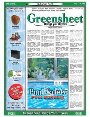 Primary view of object titled 'Greensheet (Houston, Tex.), Vol. 36, No. 140, Ed. 1 Wednesday, May 4, 2005'.