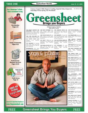 Primary view of object titled 'Greensheet (Houston, Tex.), Vol. 36, No. 222, Ed. 1 Wednesday, June 15, 2005'.