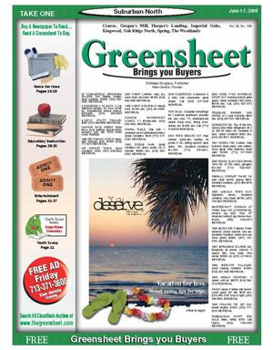 Primary view of object titled 'Greensheet (Houston, Tex.), Vol. 36, No. 198, Ed. 1 Wednesday, June 1, 2005'.