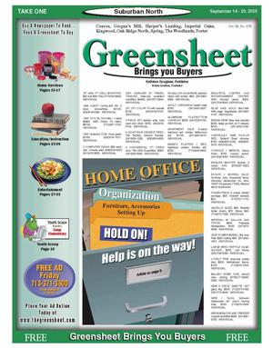 Primary view of object titled 'Greensheet (Houston, Tex.), Vol. 36, No. 378, Ed. 1 Wednesday, September 14, 2005'.