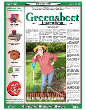 Primary view of object titled 'Greensheet (Houston, Tex.), Vol. 36, No. 126, Ed. 1 Wednesday, April 20, 2005'.