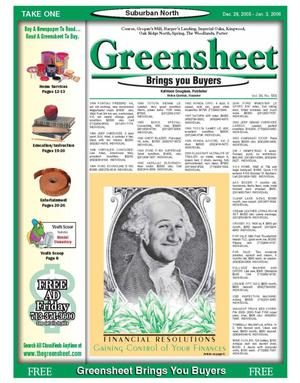 Primary view of object titled 'Greensheet (Houston, Tex.), Vol. 36, No. 558, Ed. 1 Wednesday, December 28, 2005'.