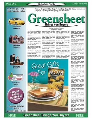 Primary view of object titled 'Greensheet (Houston, Tex.), Vol. 36, No. 138, Ed. 1 Wednesday, April 27, 2005'.