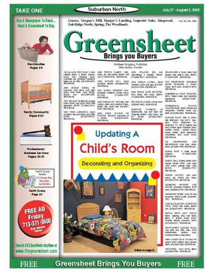 Primary view of object titled 'Greensheet (Houston, Tex.), Vol. 36, No. 394, Ed. 1 Wednesday, July 27, 2005'.