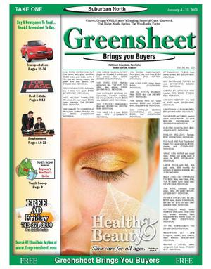 Primary view of object titled 'Greensheet (Houston, Tex.), Vol. 36, No. 570, Ed. 1 Wednesday, January 4, 2006'.