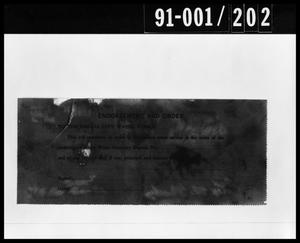 Primary view of object titled 'Document Removed from Oswald's Home'.