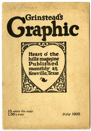 Primary view of object titled 'Grinstead's Graphic, July, 1925'.