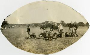 Primary view of object titled 'Schreiner football players'.