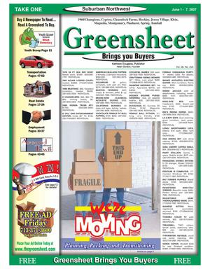 Primary view of object titled 'Greensheet (Houston, Tex.), Vol. 38, No. 204, Ed. 1 Friday, June 1, 2007'.