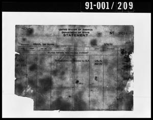 Primary view of object titled 'Statement Removed from Oswald's Property'.