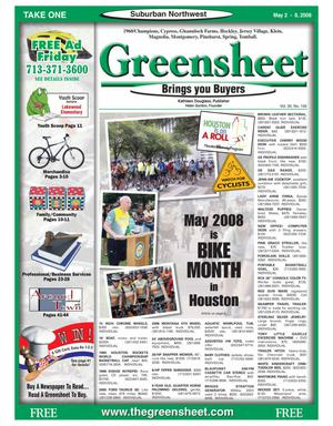 Primary view of object titled 'Greensheet (Houston, Tex.), Vol. 39, No. 156, Ed. 1 Friday, May 2, 2008'.
