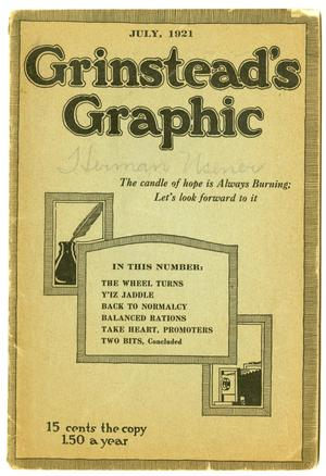 Primary view of object titled 'Grinstead's Graphic, July 1921'.