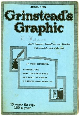 Primary view of object titled 'Grinstead's Graphic, June 1922'.