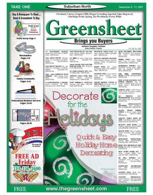 Primary view of object titled 'Greensheet (Houston, Tex.), Vol. 38, No. 522, Ed. 1 Wednesday, December 5, 2007'.