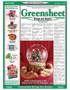 Primary view of object titled 'Greensheet (Houston, Tex.), Vol. 37, No. 528, Ed. 1 Friday, December 8, 2006'.