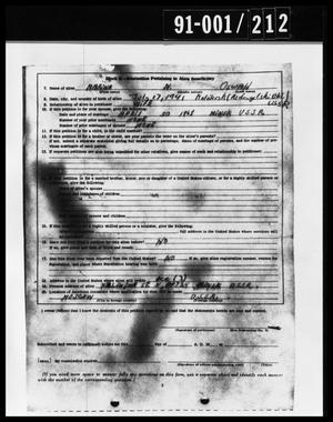 Primary view of object titled 'Alien Beneficiary Document from Oswald's Home'.