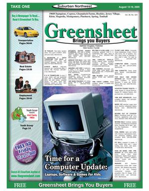 Primary view of object titled 'Greensheet (Houston, Tex.), Vol. 36, No. 324, Ed. 1 Friday, August 12, 2005'.