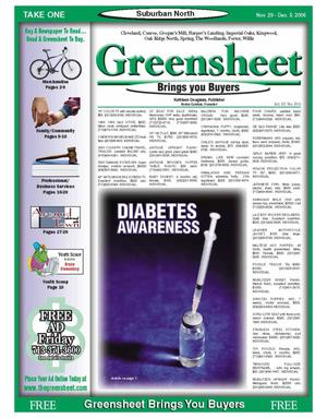 Primary view of object titled 'Greensheet (Houston, Tex.), Vol. 37, No. 510, Ed. 1 Wednesday, November 29, 2006'.
