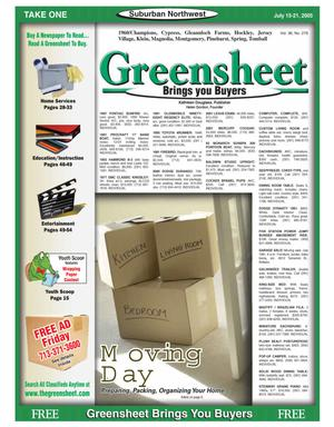 Primary view of object titled 'Greensheet (Houston, Tex.), Vol. 36, No. 276, Ed. 1 Friday, July 15, 2005'.