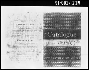 Primary view of object titled 'Catalogue from Oswald's Home'.