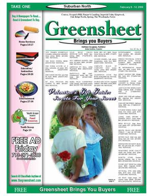 Primary view of object titled 'Greensheet (Houston, Tex.), Vol. 37, No. 6, Ed. 1 Wednesday, February 8, 2006'.