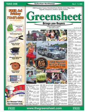 Primary view of object titled 'Greensheet (Houston, Tex.), Vol. 39, No. 168, Ed. 1 Friday, May 9, 2008'.