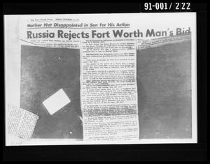 Newspaper Article Removed from Oswald's Home