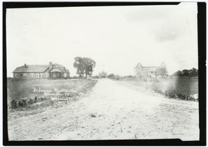 Primary view of object titled 'Entrance Road View of Hoon, Moody, and Administration Building (Weir)'.
