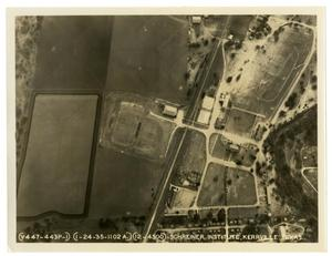 Primary view of object titled 'Aerial View of Schreiner Institute (Official Photograph - Air Corps)'.