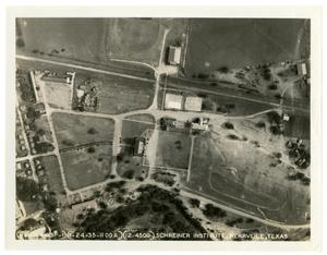 Primary view of object titled 'Aerial View of Schreiner Field (Official Photograph - Air Corps)'.